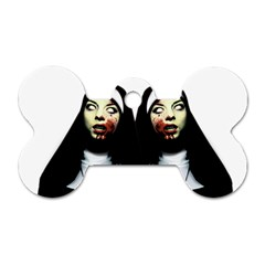 Horror Nuns Dog Tag Bone (one Side) by Valentinaart