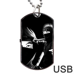 Ninja Dog Tag Usb Flash (one Side)