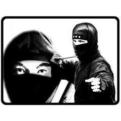 Ninja Fleece Blanket (large)  by Valentinaart