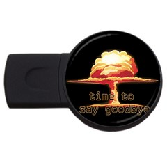 Nuclear Explosion Usb Flash Drive Round (4 Gb) by Valentinaart
