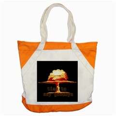 Nuclear Explosion Accent Tote Bag by Valentinaart