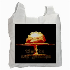 Nuclear Explosion Recycle Bag (two Side)  by Valentinaart