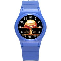 Nuclear Explosion Round Plastic Sport Watch (s) by Valentinaart