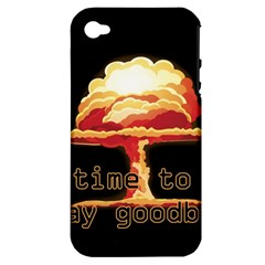 Nuclear Explosion Apple Iphone 4/4s Hardshell Case (pc+silicone) by Valentinaart