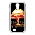 Nuclear Explosion Samsung GALAXY S4 I9500/ I9505 Case (White) Front