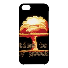 Nuclear Explosion Apple Iphone 5c Hardshell Case by Valentinaart