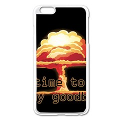 Nuclear Explosion Apple Iphone 6 Plus/6s Plus Enamel White Case by Valentinaart