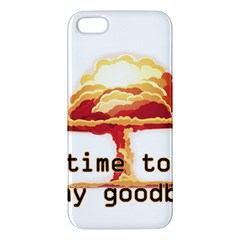 Nuclear Explosion Apple Iphone 5 Premium Hardshell Case by Valentinaart