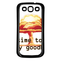 Nuclear Explosion Samsung Galaxy S3 Back Case (black) by Valentinaart