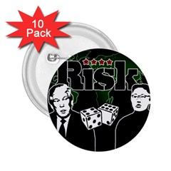 Nuclear Explosion Trump And Kim Jong 2 25  Buttons (10 Pack)  by Valentinaart