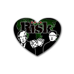 Nuclear Explosion Trump And Kim Jong Heart Coaster (4 Pack)
