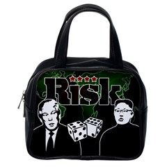 Nuclear Explosion Trump And Kim Jong Classic Handbags (one Side) by Valentinaart