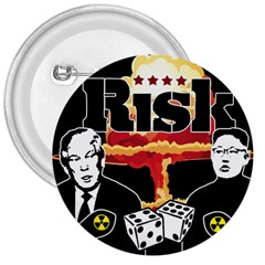 Nuclear Explosion Trump And Kim Jong 3  Buttons by Valentinaart
