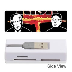 Nuclear Explosion Trump And Kim Jong Memory Card Reader (stick)  by Valentinaart