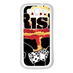 Nuclear Explosion Trump And Kim Jong Samsung Galaxy S3 Back Case (white) by Valentinaart