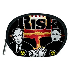 Nuclear Explosion Trump And Kim Jong Accessory Pouches (medium)