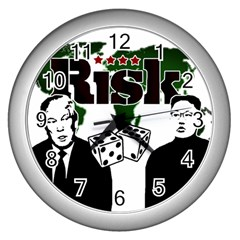 Nuclear Explosion Trump And Kim Jong Wall Clocks (silver)