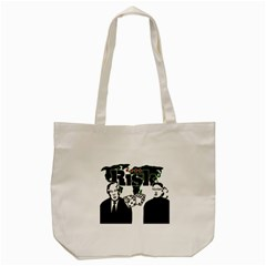 Nuclear Explosion Trump And Kim Jong Tote Bag (cream) by Valentinaart