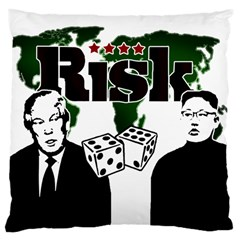 Nuclear Explosion Trump And Kim Jong Large Cushion Case (two Sides)