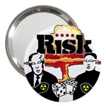 Nuclear Explosion Trump and Kim Jong 3  Handbag Mirrors Front