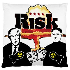 Nuclear Explosion Trump And Kim Jong Standard Flano Cushion Case (two Sides) by Valentinaart