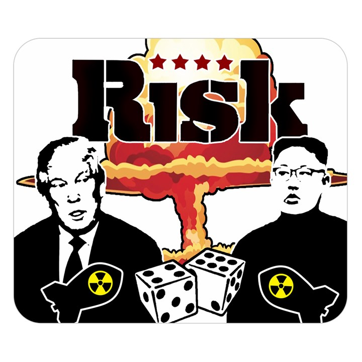 Nuclear Explosion Trump and Kim Jong Double Sided Flano Blanket (Small)
