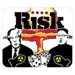 Nuclear Explosion Trump and Kim Jong Double Sided Flano Blanket (Small)  50 x40 Blanket Back