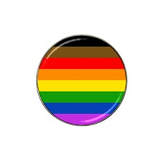 Philadelphia Pride Flag Hat Clip Ball Marker (4 Pack)