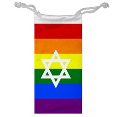 Gay Pride Israel Flag Jewelry Bag by Valentinaart