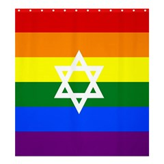Gay Pride Israel Flag Shower Curtain 66  X 72  (large)  by Valentinaart