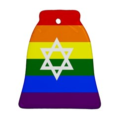 Gay Pride Israel Flag Bell Ornament (two Sides) by Valentinaart