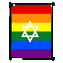Gay Pride Israel Flag Apple Ipad 2 Case (black) by Valentinaart