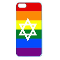 Gay Pride Israel Flag Apple Seamless Iphone 5 Case (color) by Valentinaart