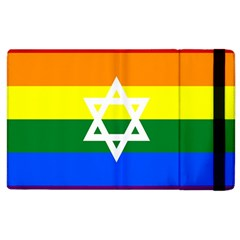 Gay Pride Israel Flag Apple Ipad 2 Flip Case by Valentinaart