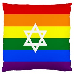 Gay Pride Israel Flag Standard Flano Cushion Case (two Sides) by Valentinaart