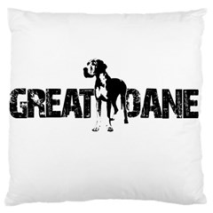 Great Dane Large Cushion Case (two Sides) by Valentinaart
