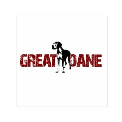 Great Dane Small Satin Scarf (square) by Valentinaart