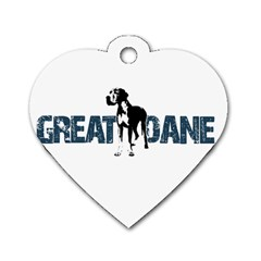 Great Dane Dog Tag Heart (one Side)