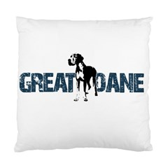 Great Dane Standard Cushion Case (one Side) by Valentinaart