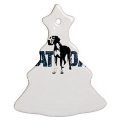Great Dane Christmas Tree Ornament (two Sides)