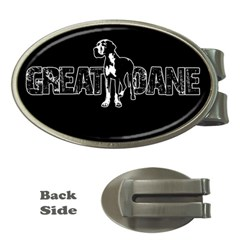 Great Dane Money Clips (oval)  by Valentinaart