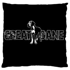 Great Dane Standard Flano Cushion Case (two Sides) by Valentinaart