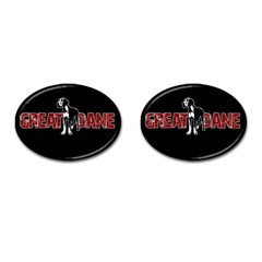 Great Dane Cufflinks (oval) by Valentinaart