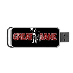 Great Dane Portable Usb Flash (two Sides)