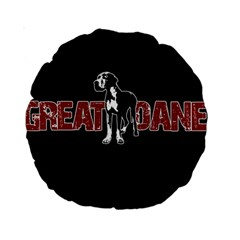 Great Dane Standard 15  Premium Round Cushions by Valentinaart