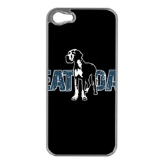 Great Dane Apple Iphone 5 Case (silver) by Valentinaart