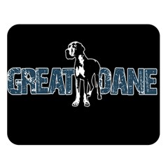 Great Dane Double Sided Flano Blanket (large)