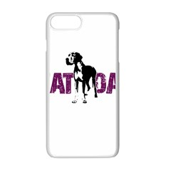 Great Dane Apple Iphone 7 Plus White Seamless Case by Valentinaart