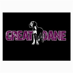 Great Dane Large Glasses Cloth (2 Side) by Valentinaart