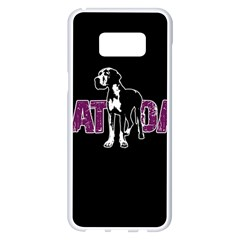 Great Dane Samsung Galaxy S8 Plus White Seamless Case by Valentinaart